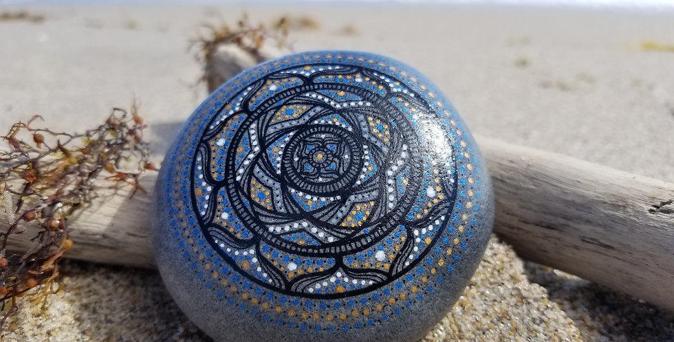 Mandala Meditation Stone #482