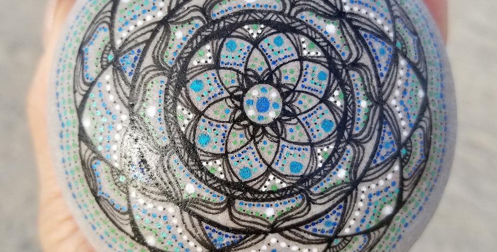 Mandala Meditation Stone #491