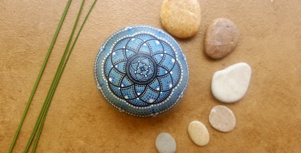 *SOLD* Mandala Meditation Stone #412