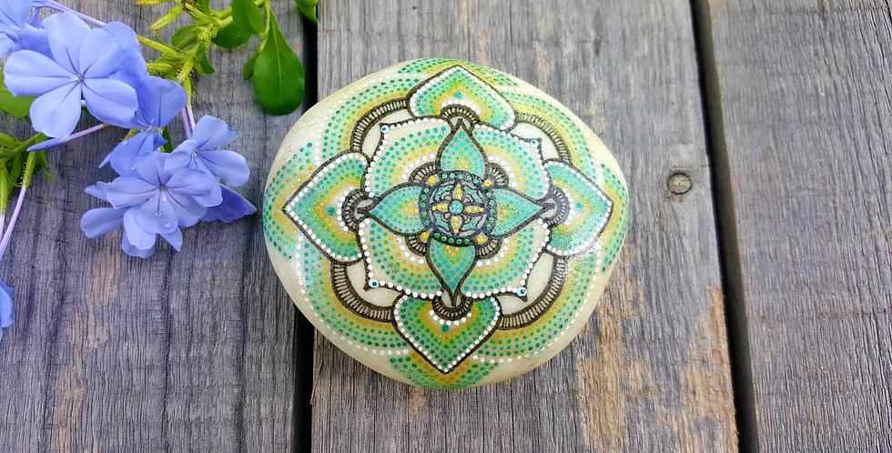 *SOLD*Mandala Meditation Stone- Moroccan Collection #414