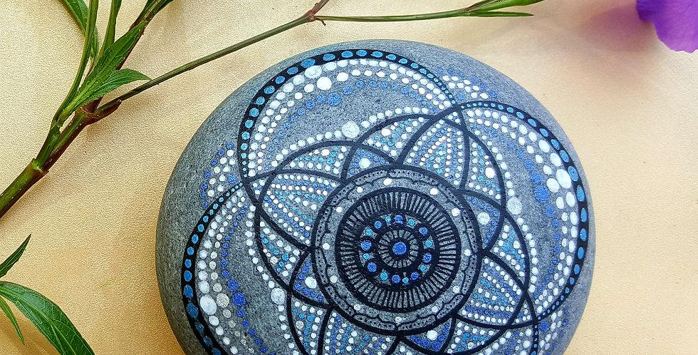 *SOLD*Mandala Meditation Stone #4917