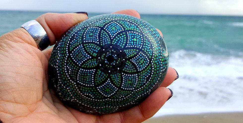 *SOLD*Mandala Meditation Stone #470