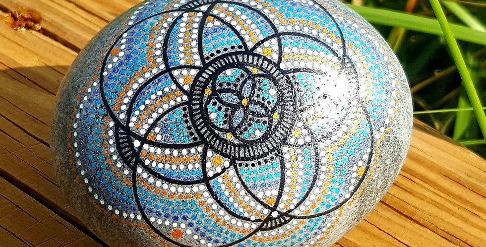 *SOLD*Mandala Meditation Stone #459