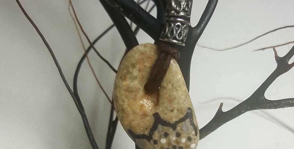 Hag Stone Mandala Pendant