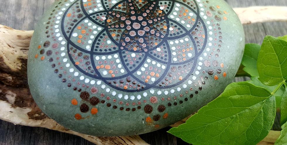 *SOLD*Mandala Meditation Stone #6917