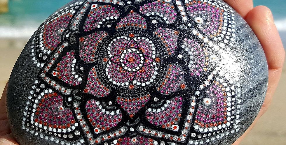 *SOLD*Mandala Meditation Stone #421