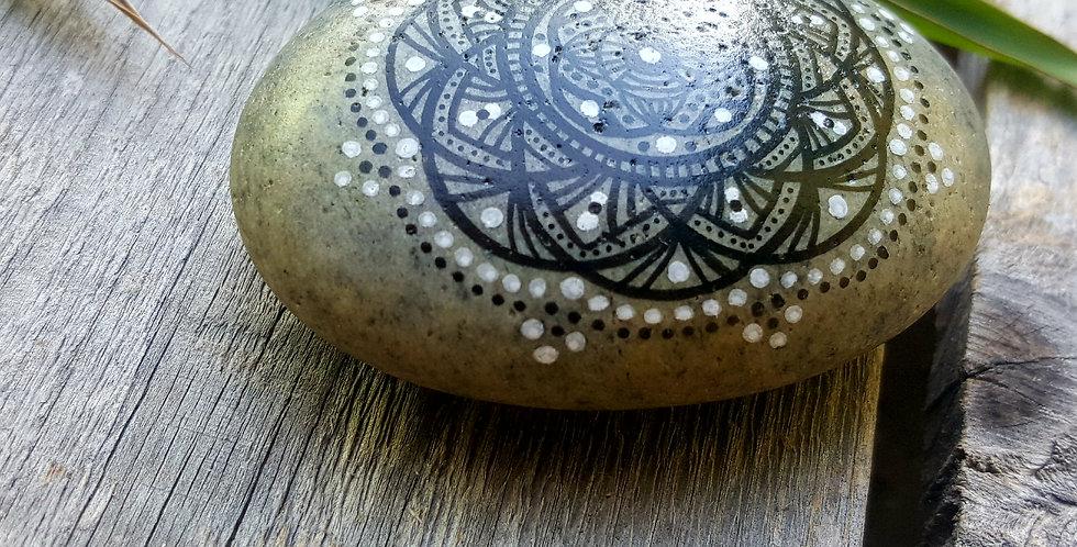 Mandala Meditation Stone #429