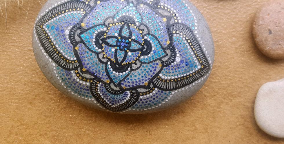 Mandala Meditation Stone #408