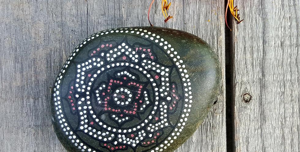 *SOLD* Mandala Meditation Stone #428