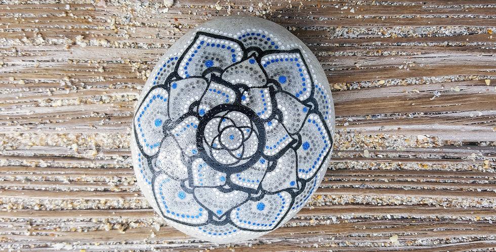 *SOLD*Mandala Meditation Stone #464