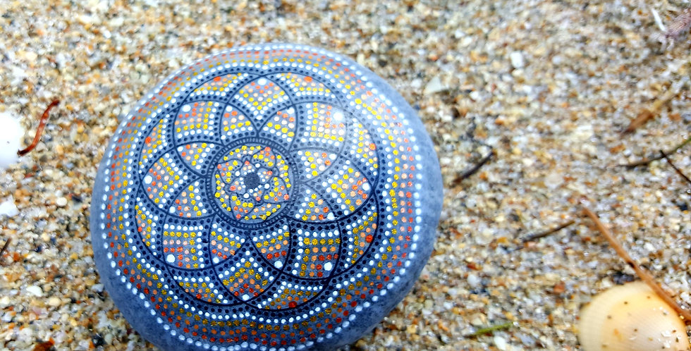 *SOLD* Mandala Meditation Stone #426