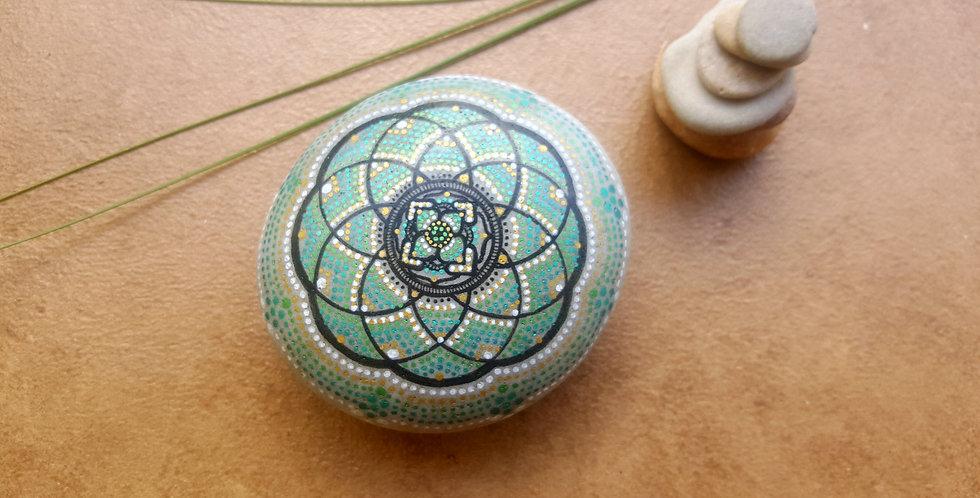 *SOLD*Mandala Meditation Stone #404