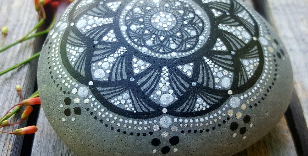 *SOLD* Mandala Meditation Stone #5917