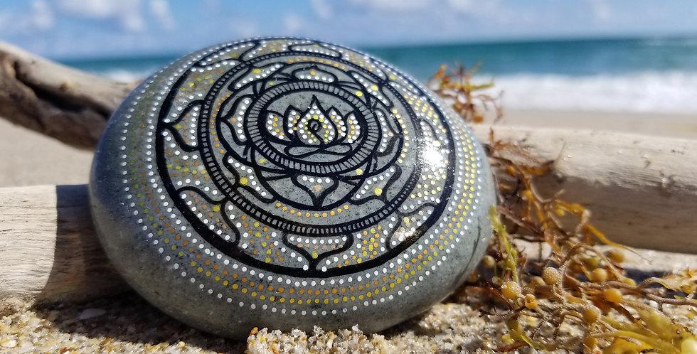 Mandala Meditation Stone #481