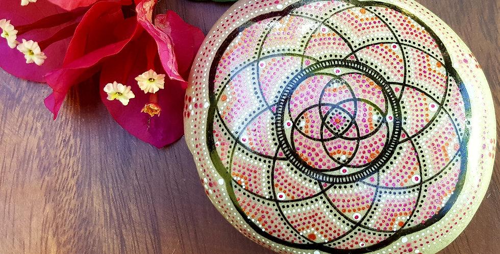 *SOLD*Mandala Meditation Stone #462