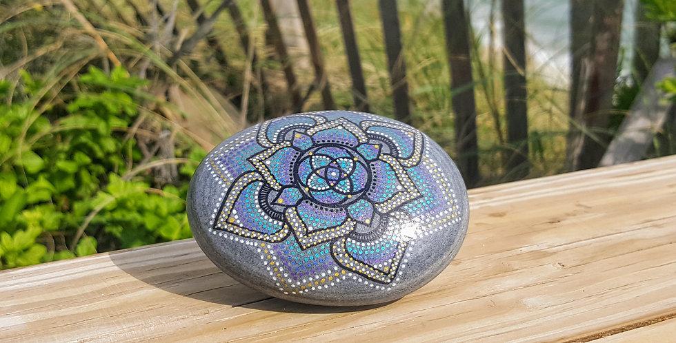 Mandala Meditation Stone #458