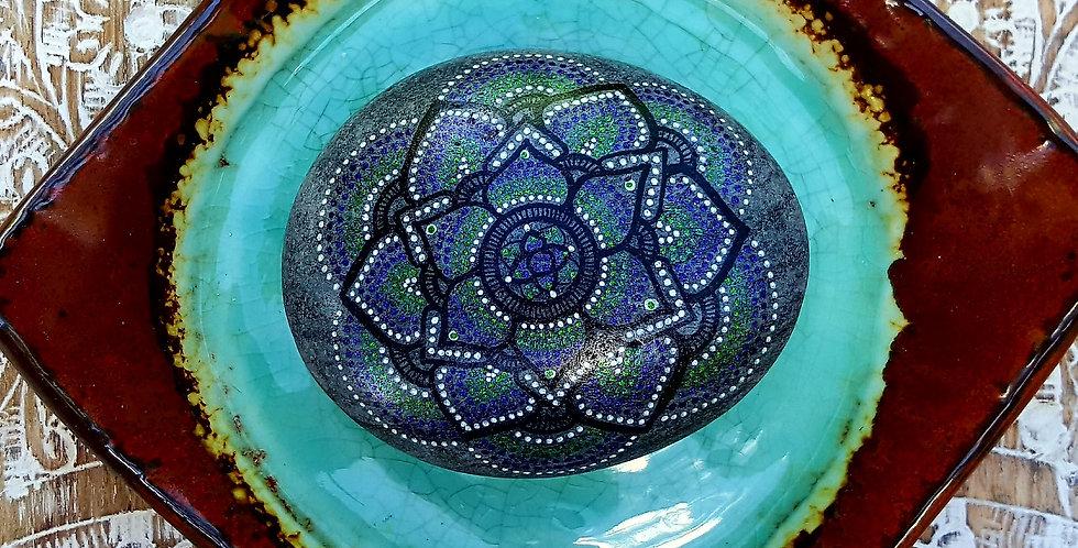 *SOLD*Mandala Meditation Stone #463