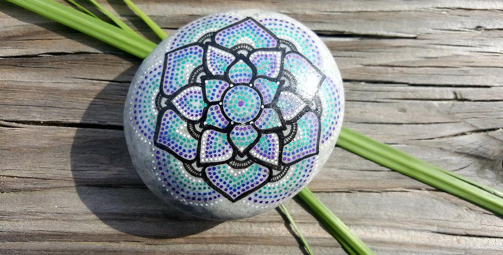 *SOLD*Mandala Meditation Stone #468