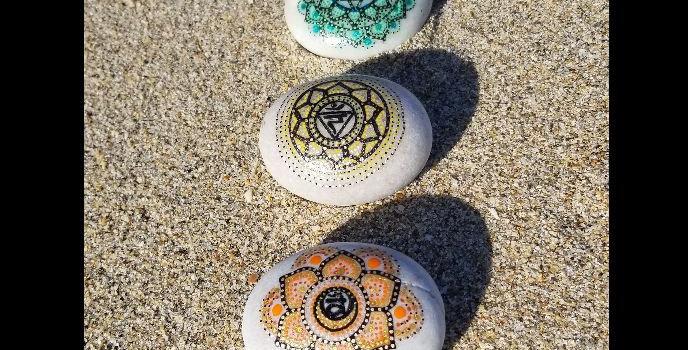 *SOLD*Chakra Mandala Meditation Stones