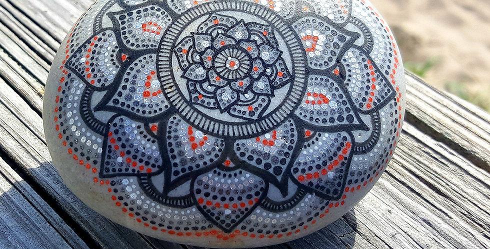 *SOLD*Mandala Meditation Stone #427