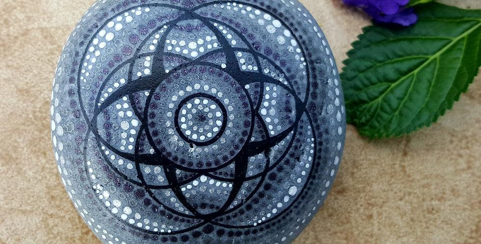 *SOLD* Mandala Meditation Stone #1917