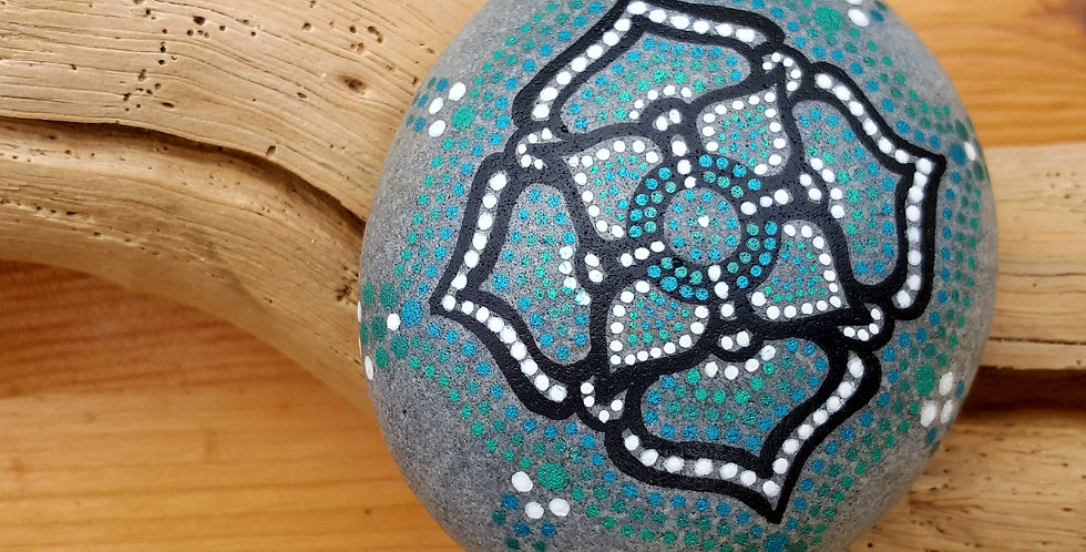 *SOLD*Mandala Meditation Stone #93017