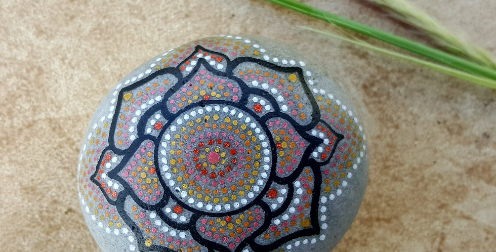 Mandala Meditation Stone #2917