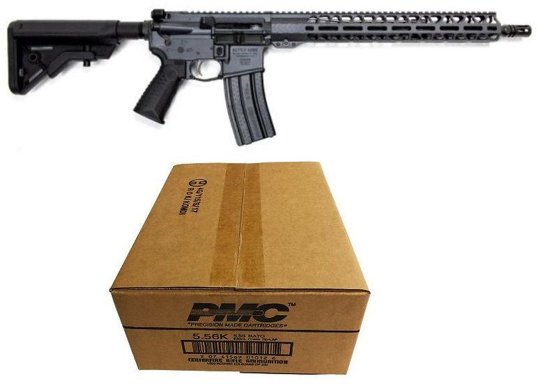 BAD Forged WORKHORSE Patrol Carbine AR Rifle - Combat Grey + 1K PMC X-TAC 62GR