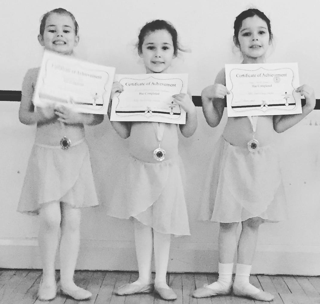 Bristol Ballet School Certificates and Medals
