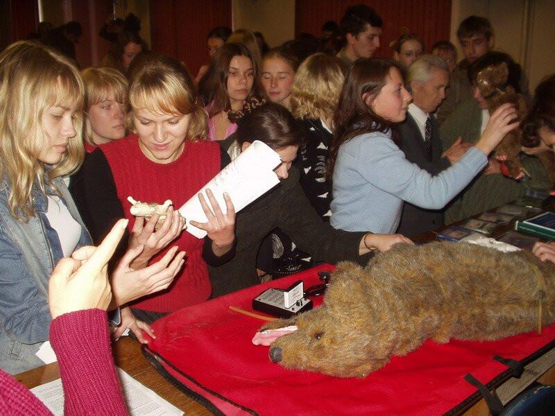 Студенты изучают манекен собаки Джерри и другие альтернативы