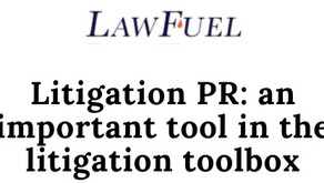 Litigation PR: an important tool in the litigation toolbox