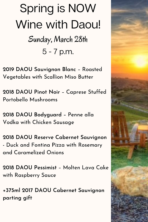Spring is NOW, Wine with Daou! (one admission)