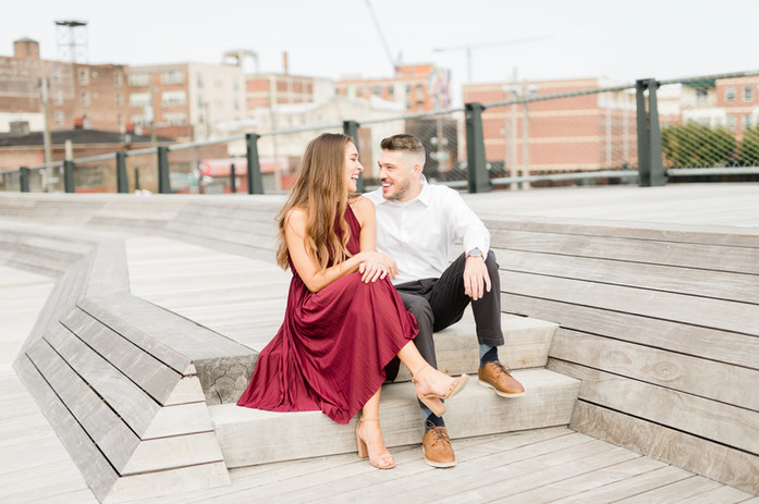 Philadelphia Wedding Photographer. The industrial, urban side of the of any city is great for modern and classic wedding photography. Historical buildings show off some of the rich culture, while contempory architecture and artwork make great focal points for wedding and engagement photography of Jen and Katie.
