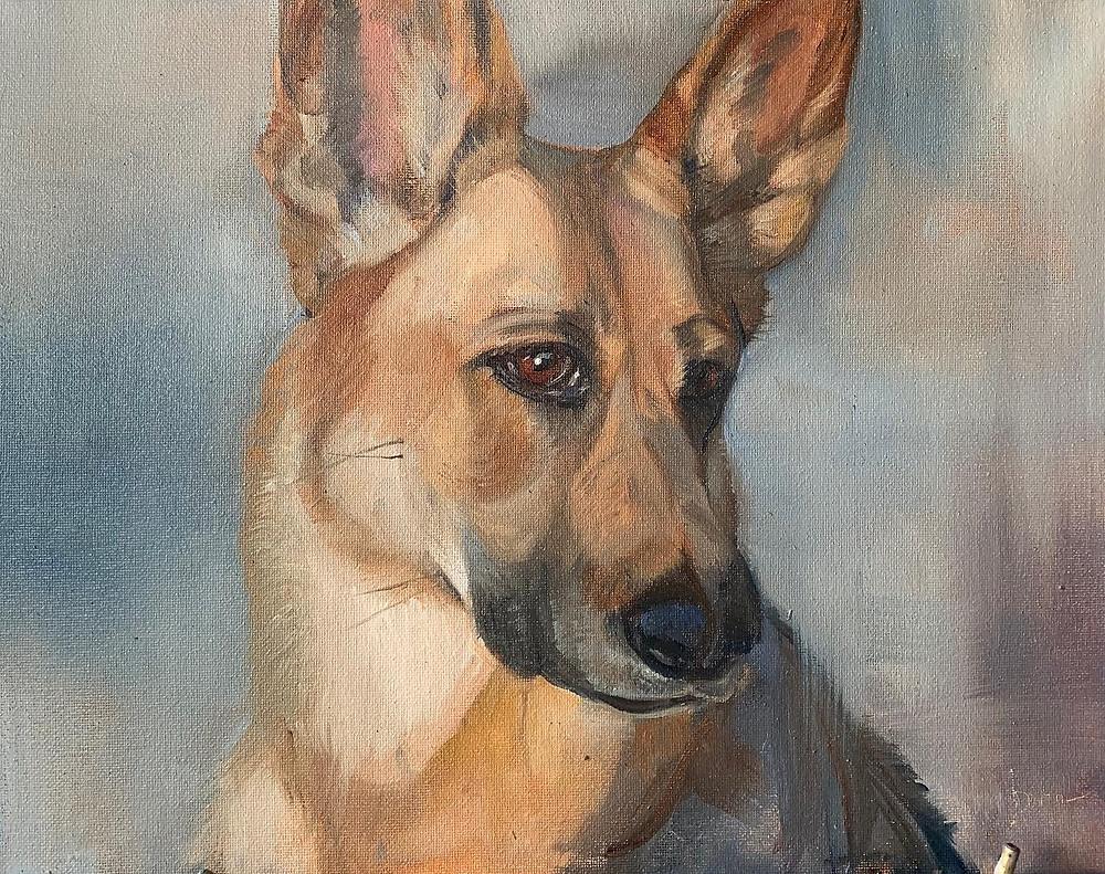Oil painting by local Phoenix artist Devon Meyer