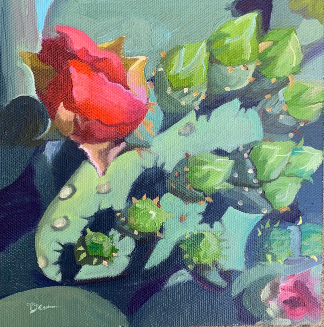 Available - Oil Painting - Desert Blooms 3