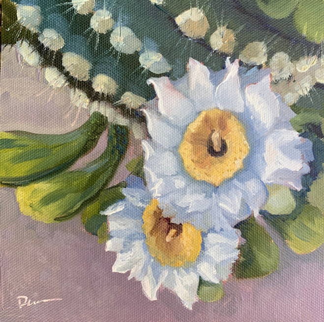 Available - Oil Painting - Desert Blooms 4