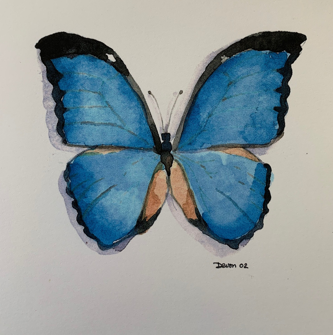 Available - Watercolor Painting - Blue