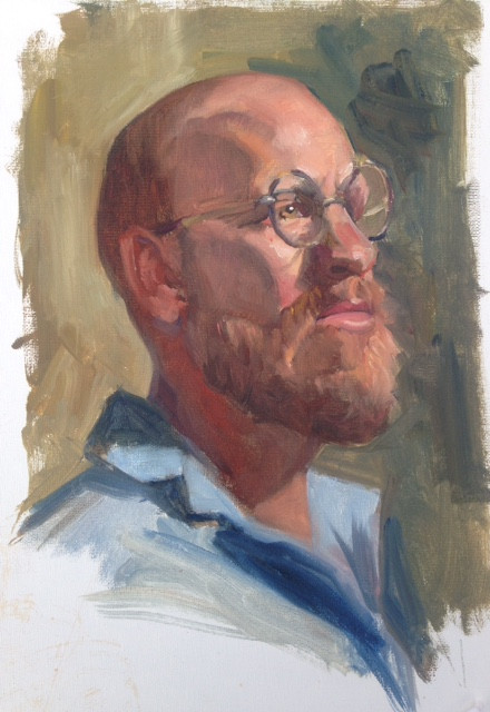 Man with Glasses - Oil
