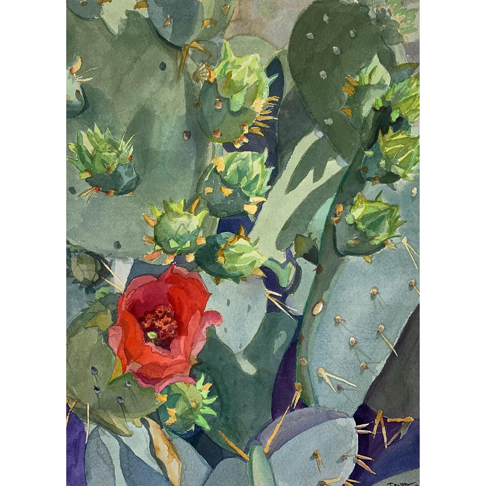 watercolor painting by local Phoenix artist Devon Meyer
