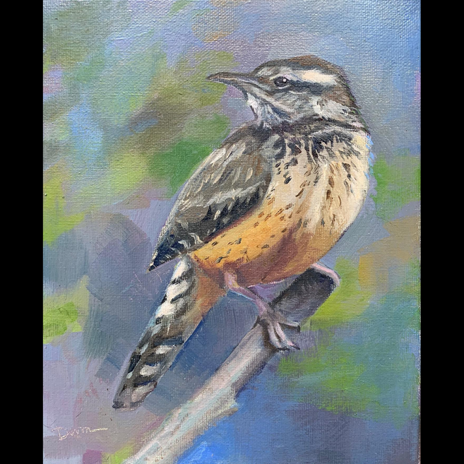 Available - Oil Painting - Bird with Attitude