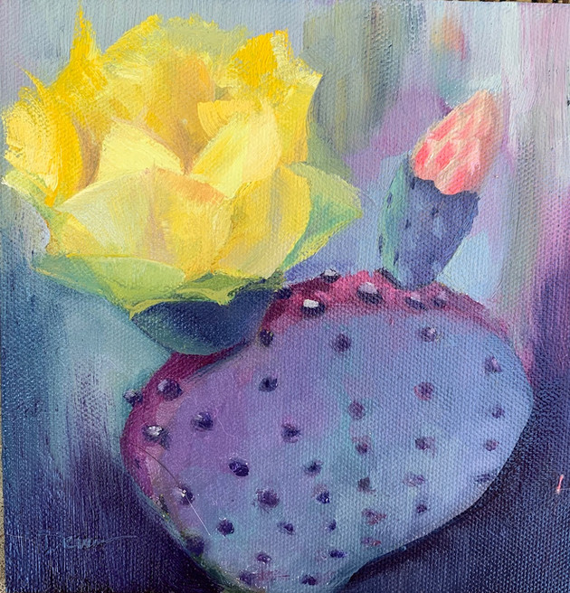Available - Oil Painting - Desert Blooms 1