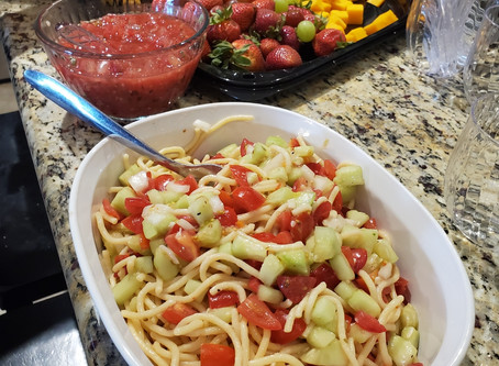 Pasta salad = summer