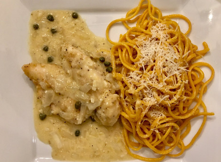 Recipe - Chicken Piccata over Fresh Pasta