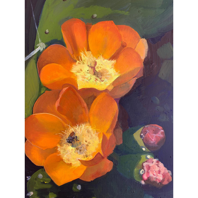 Available - Oil Painting - Bee in a Bloom