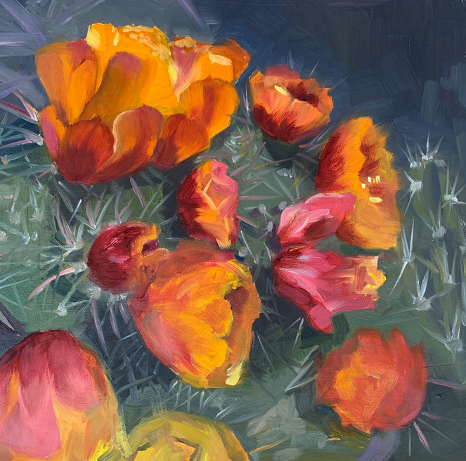 Available - Oil Painting - Desert Blooms 6