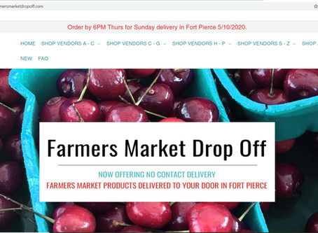 Farmers Market Drop Off now delivering to Fort Pierce!
