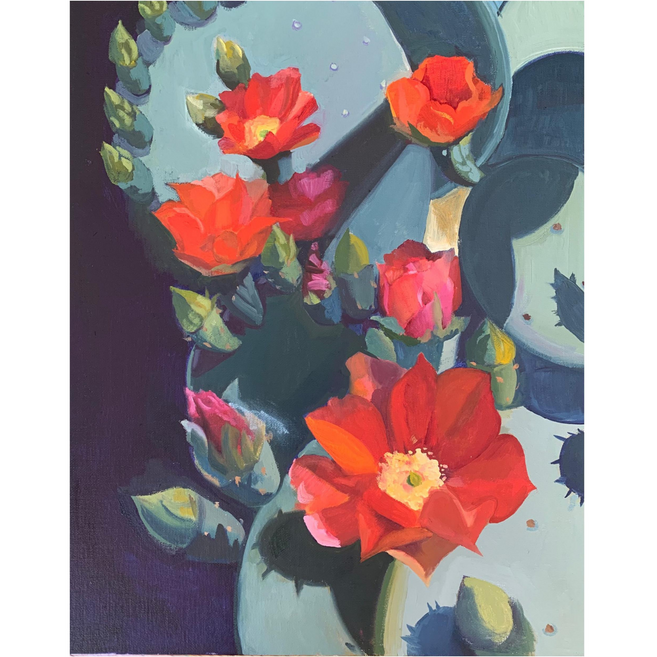 Available - Oil Painting - Red Flower
