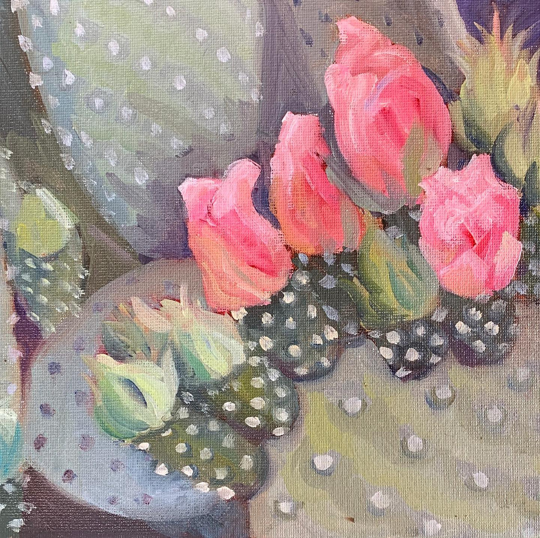 Available - Oil Painting - Bright Blooms