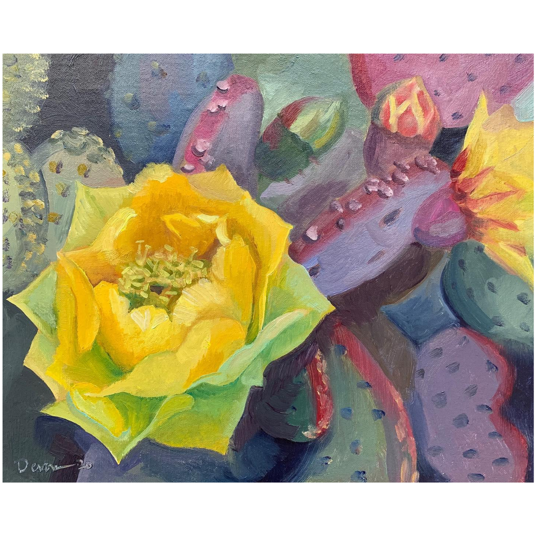 Available - Oil Painting - Desert Blooms 5