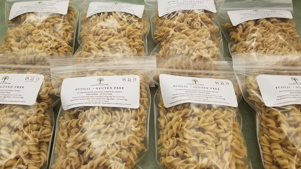High protein, low carb, gluten-free fusilli
